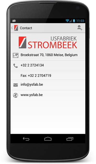 Screenshot of Ijsfabriek Strombeek